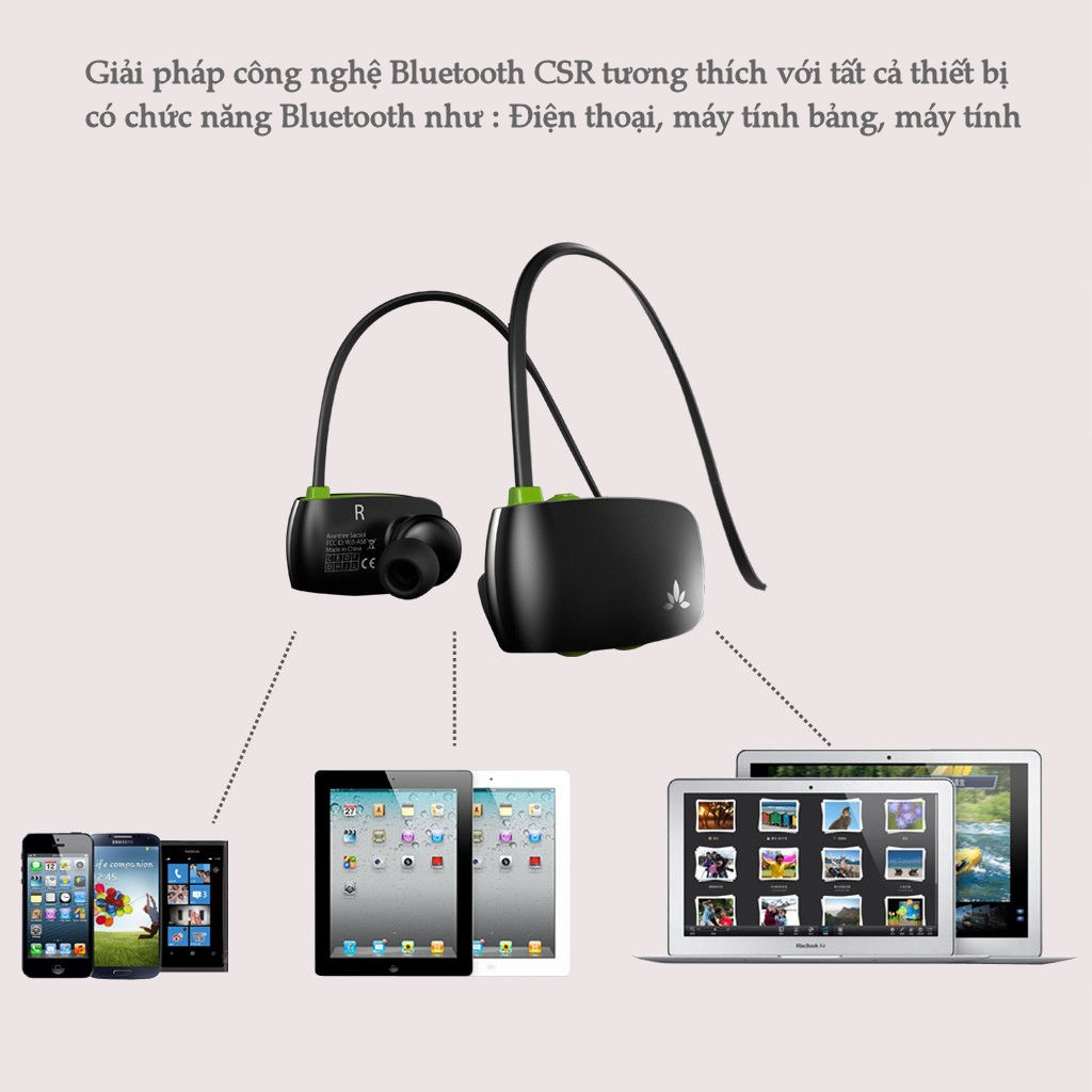 Kết quả hình ảnh cho Tai nghe nhạc Bluetooth BTHS-AS8-BLK