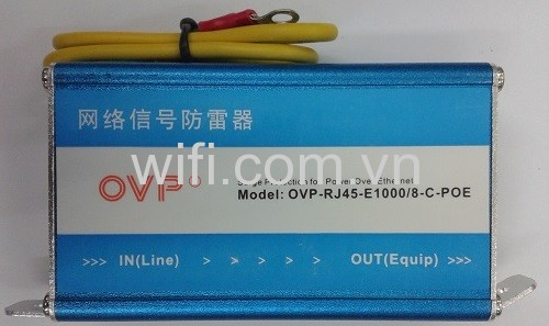 Chống Sét RJ45 Gigabit Ethernet LAN Lightning Surge Protection Adapter OVP-RJ45-E1000/8-C-POE