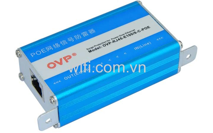 Chống Sét RJ45 Ethernet LAN Lightning Surge Protection Adapter OVP-RJ45-E100/8-C-POE