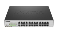 D-Link DGS-1100-24P 24-Port Gigabit PoE Smart Managed Switch (12 x PoE ports, fan)