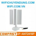 Anten Comfast CF-ANT2416P Adjustable Singal King high gain wifi Receiver Antenna with wings