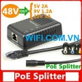 PoE-5912 PoE Splitter 10/100Mbps (in 48V to 5V/9V/12V) IEEE 802.3af /at