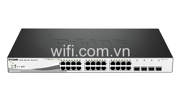 D-Link DGS-1210-28P 28-Port Gigabit WebSmart PoE Switch with 24 UTP and 4 SFP Ports