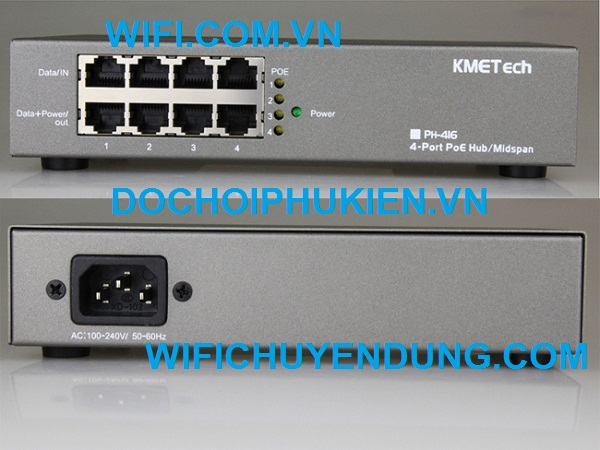 Switch POE KMETech PH416 (4Port in-4 Port Out 48-56V)